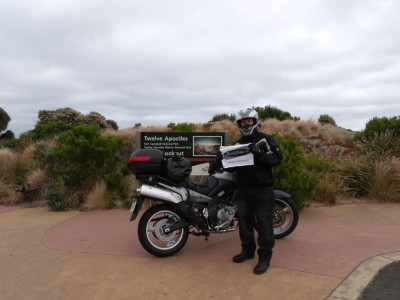 The 12 Apostle's, Victoria Austrailia.2,438 km from Adelaide to Philip Island.