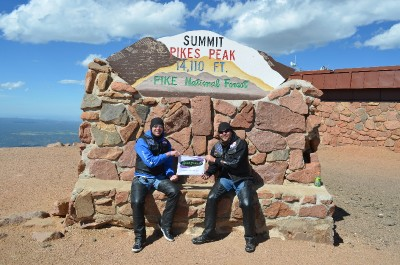 Shawn Collins and Brother From Kansas to the top of Pikes Peak Colorado.