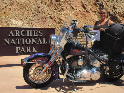 Kathy Sollenne Riding for Breast Cancer from PA to Sturgis, through Bear Tooth Pass, to Yellowstone National Park, Las Vegas, The Tetons, through Nevada, Grand Canyon and Hoover Dam, Colorado and back to PA. Approx 7,500 miles.